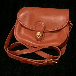 Vintage Coach Prairie All Leather Crossbody Bag